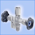 Pressure gauge valves with test flange
