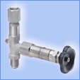 Pressure gauge valves-bellows sealed